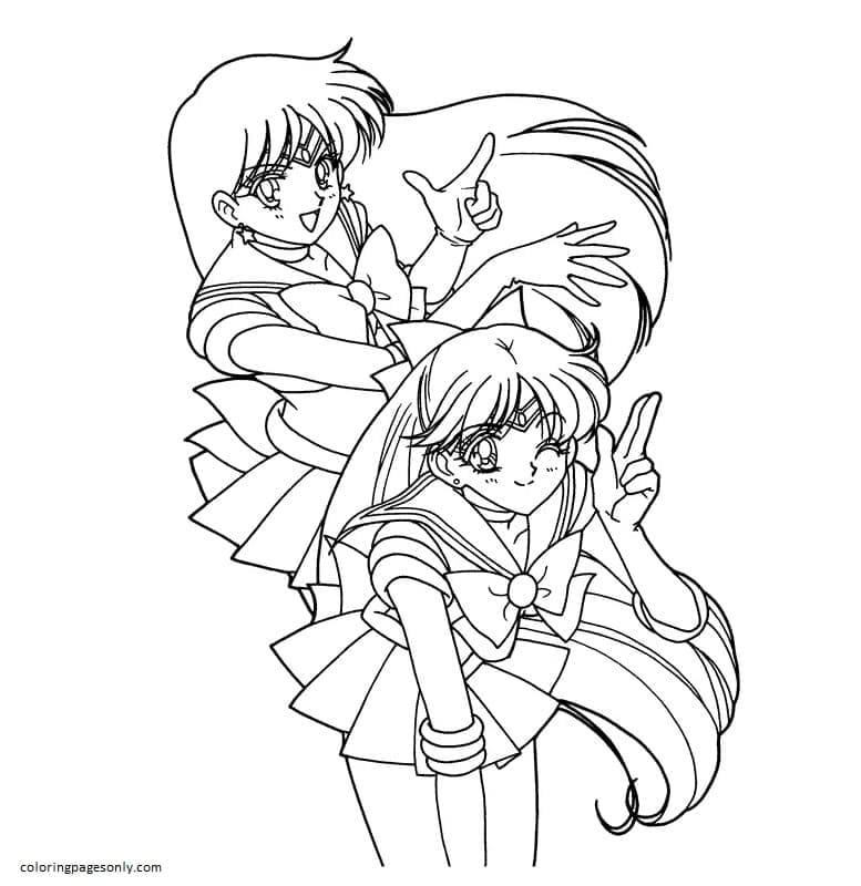 Printable Sailor Moon 10 Coloring Page