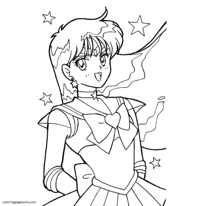 Printable Sailor Moon 11 Coloring Page