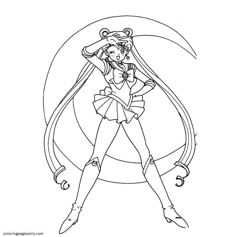 Printable Sailor Moon 5 Coloring Page