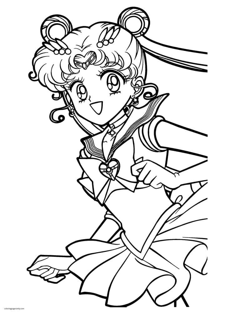 Printable Sailor Moon Coloring Page