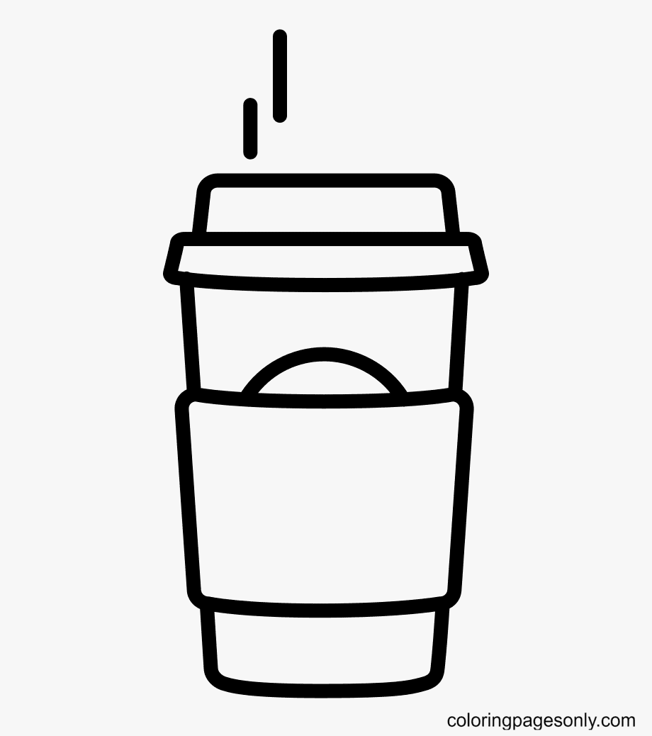 Printable coffee starbucks Coloring Page
