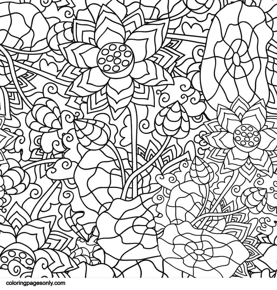 Psychedelic Ornaments 0 Coloring Page