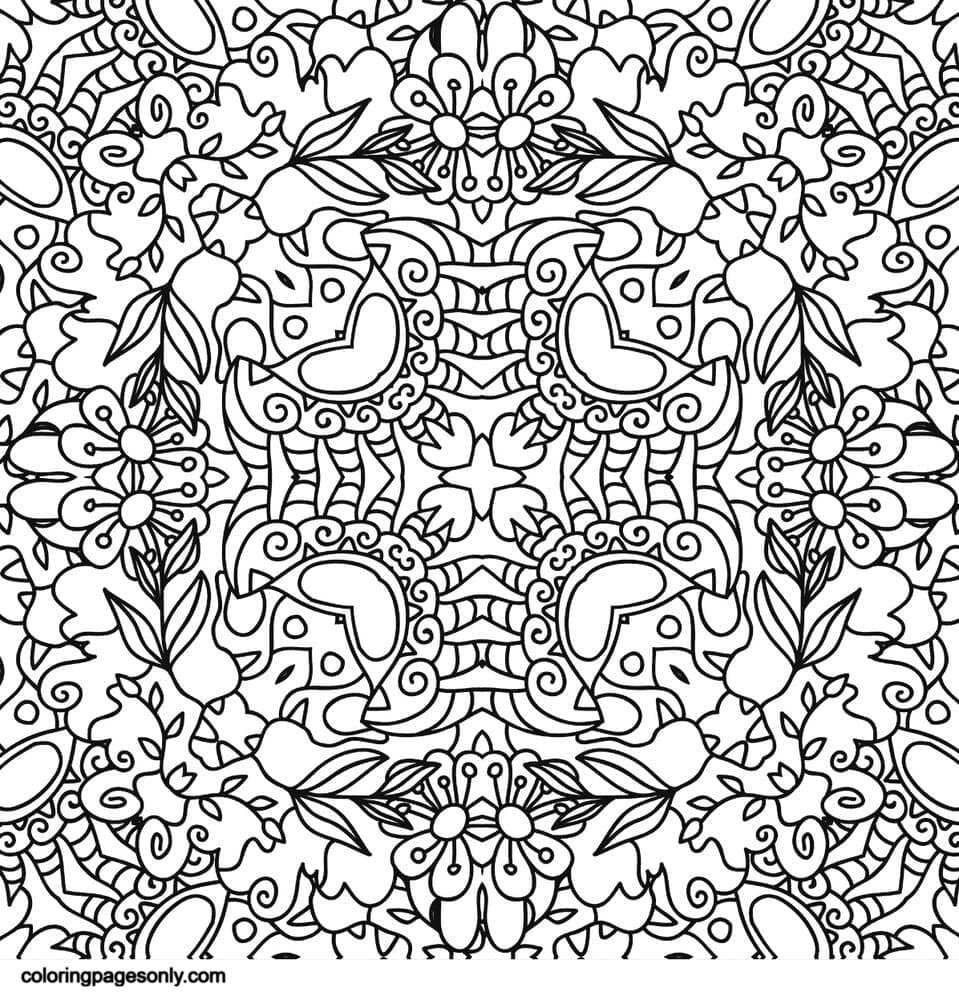 Psychedelic Ornaments 2 Coloring Page