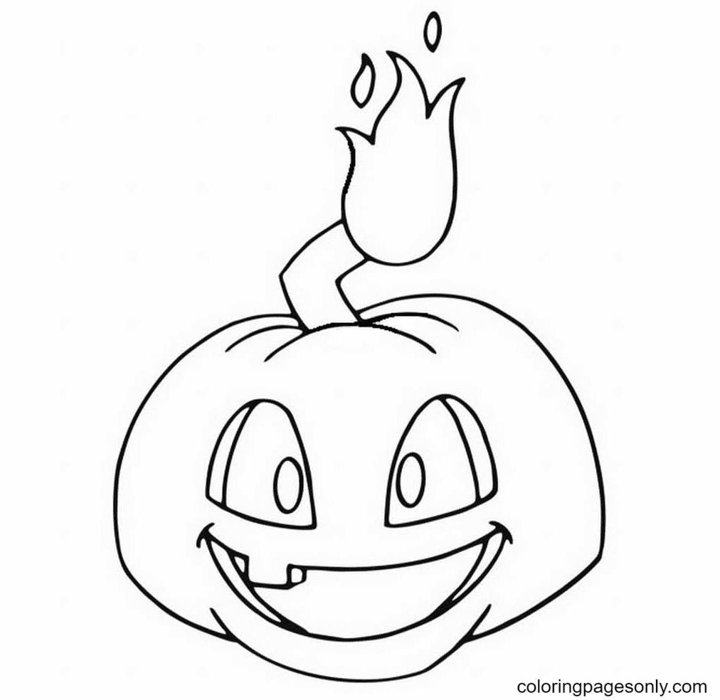 Pumpkin from Plant vs Zombies Coloring Page