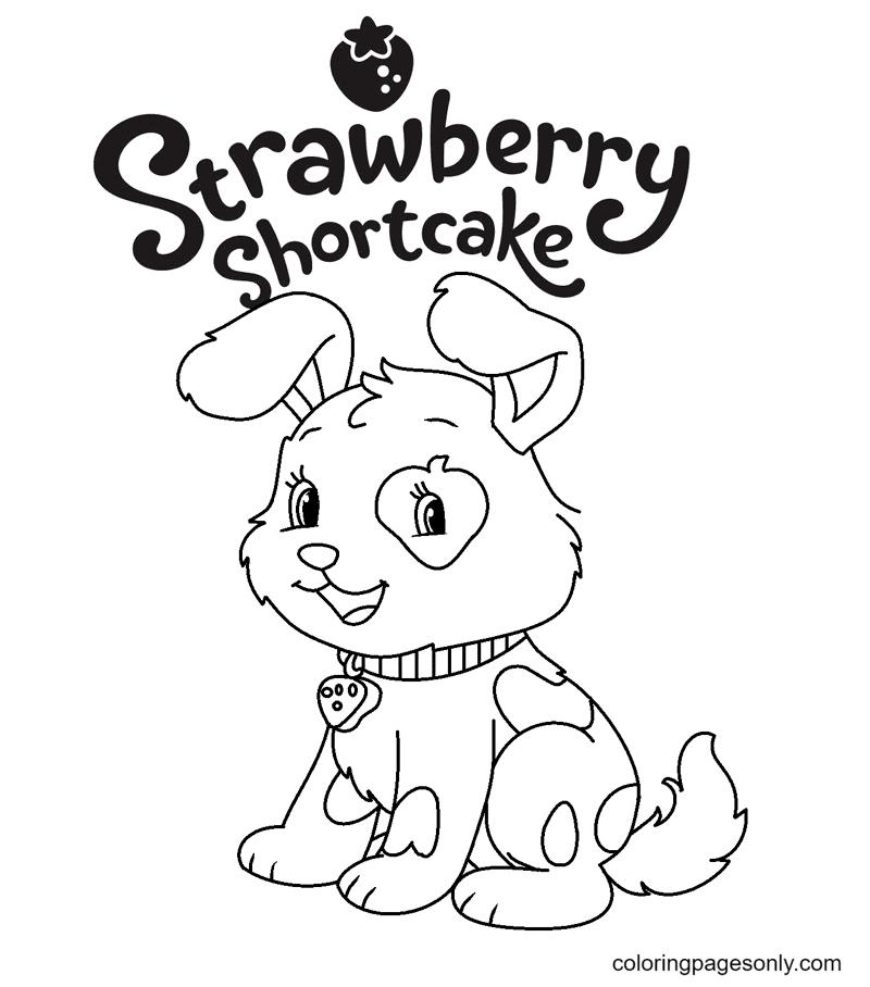 Pupcake Strawberry Shortcake Coloring Page