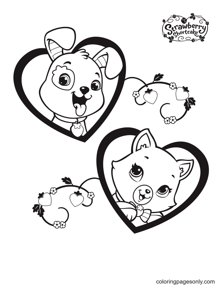 Pupcake and Custard Coloring Page