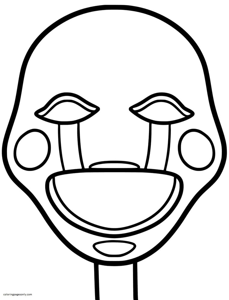Puppet Mask Coloring Page