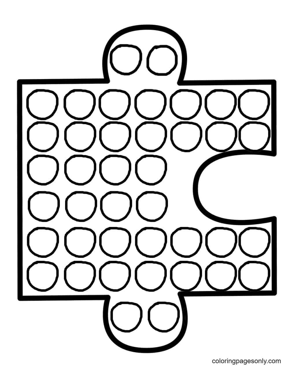 Puzzle Pop It Coloring Page