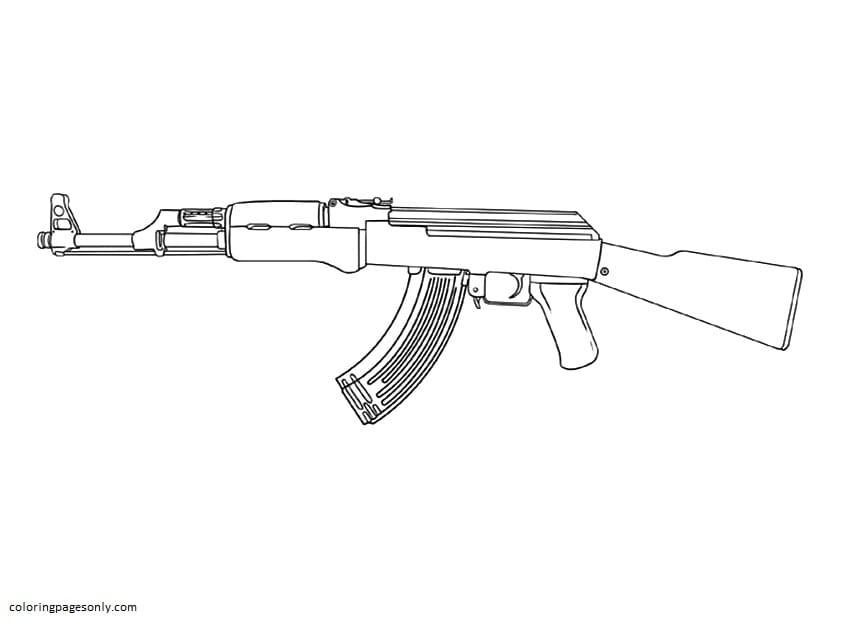 RPD Gun Coloring Page