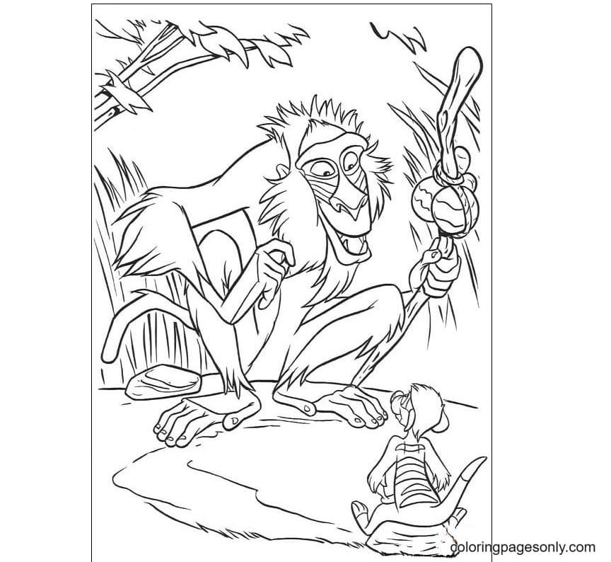 Rafiki mandrill Coloring Page