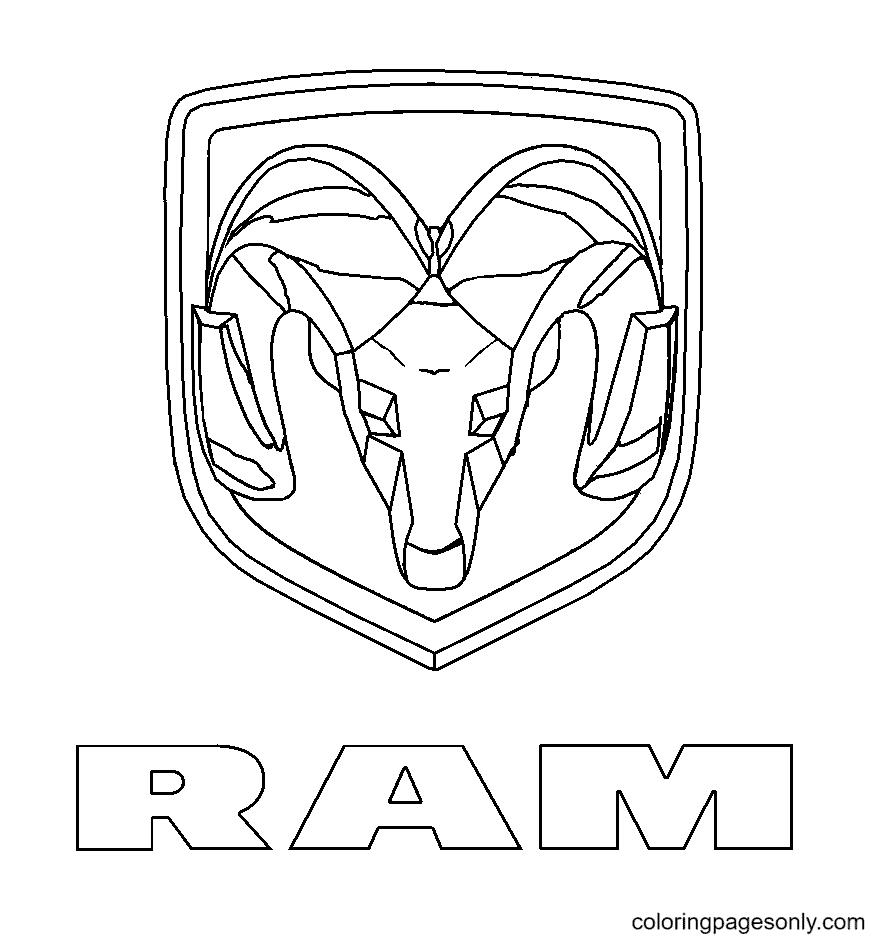 Ram Logo Coloring Page
