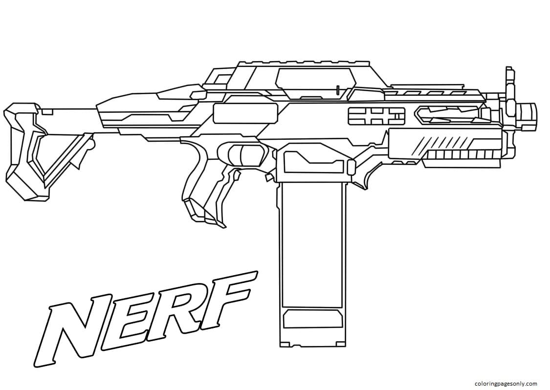Rapid Fire Nerf Coloring Page