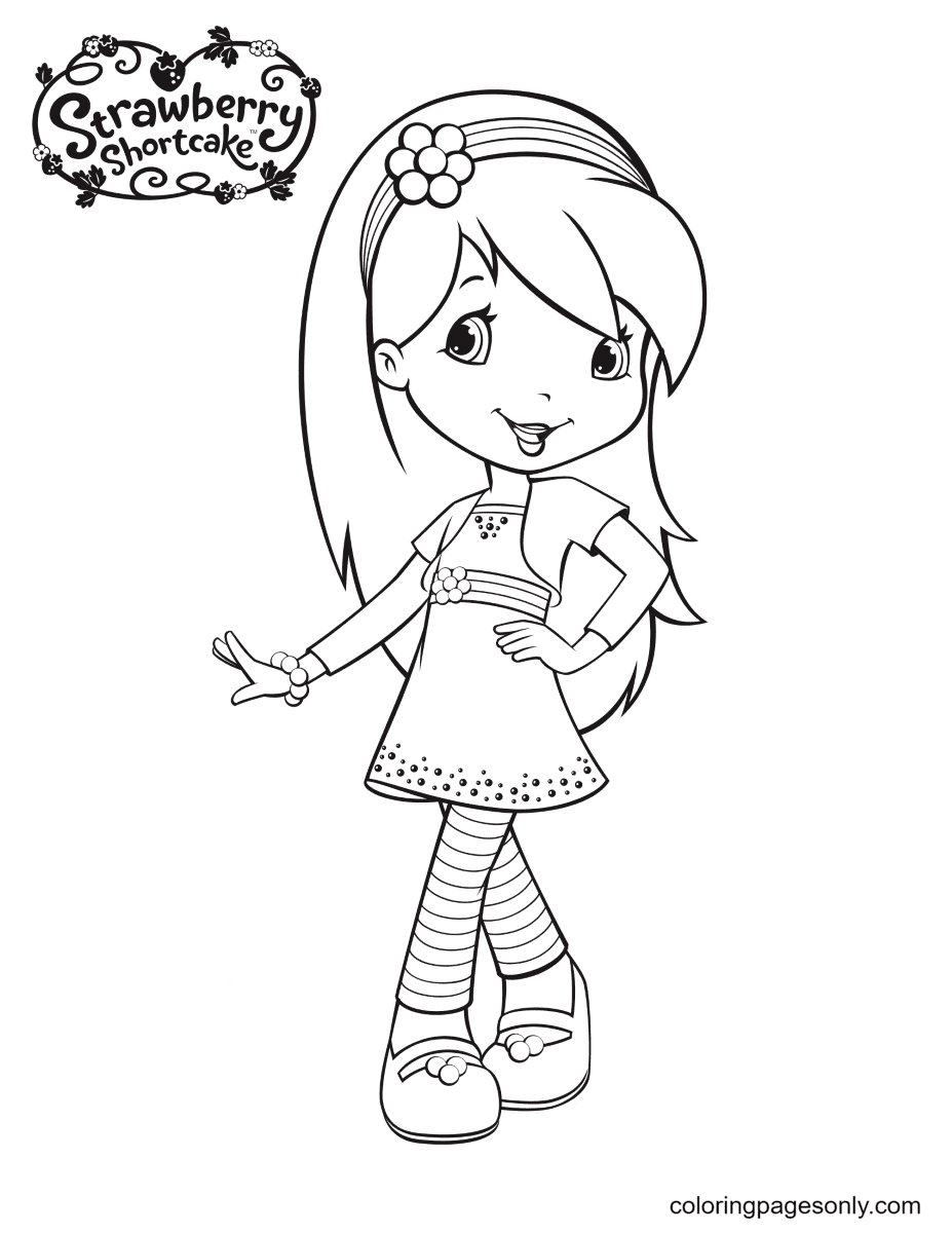 Raspberry Torte cute Coloring Page
