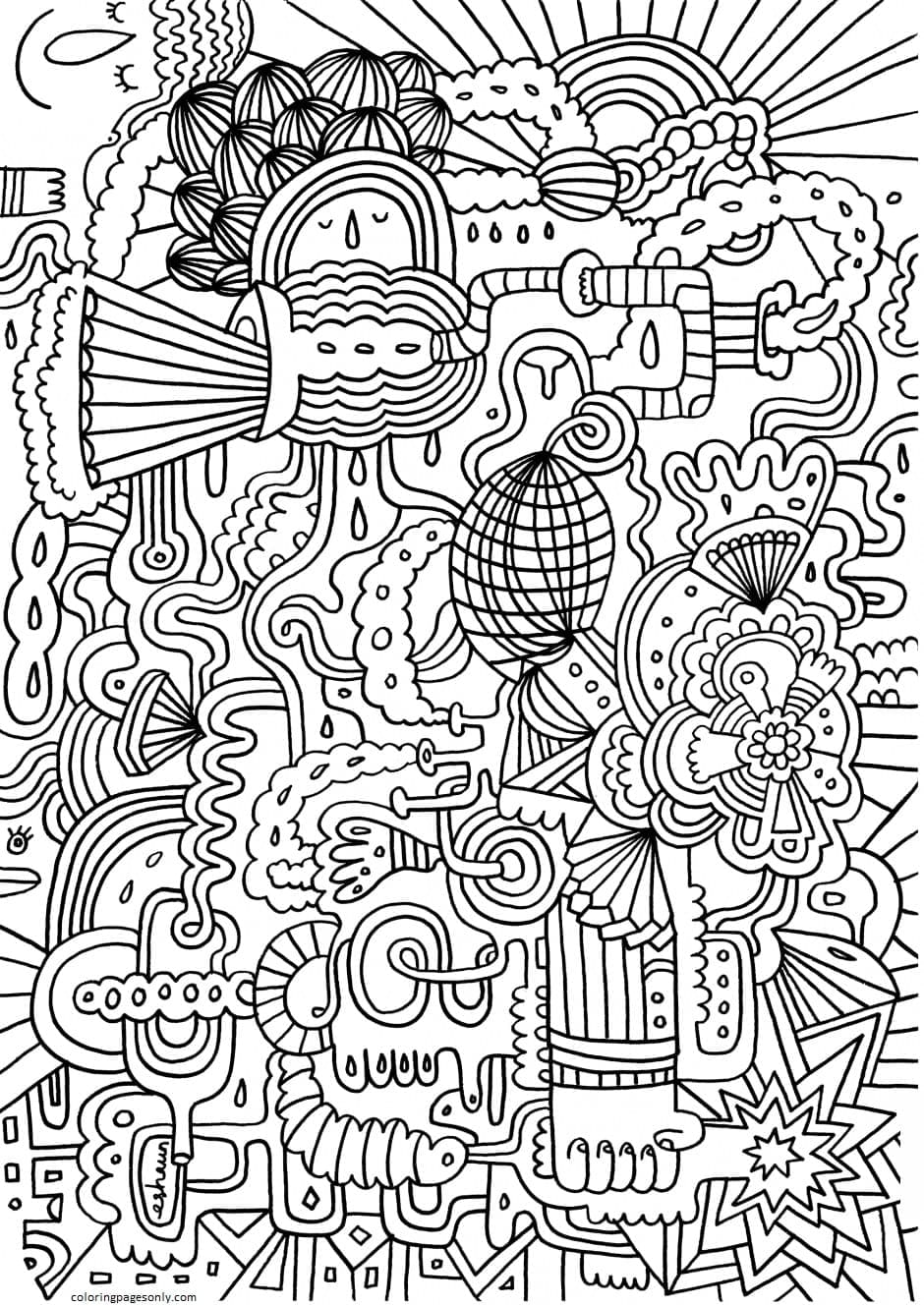 Really Hard Coloring Page