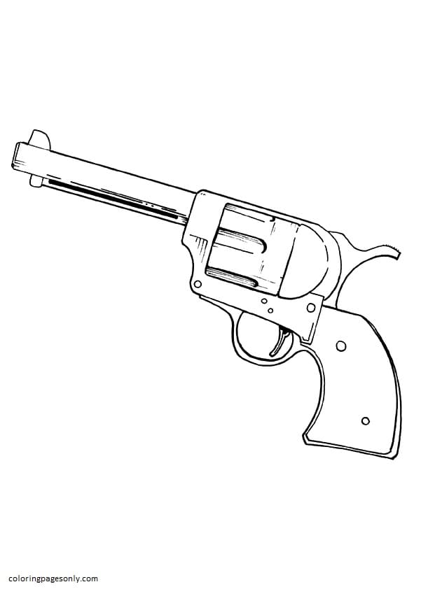 Revolver Coloring Page
