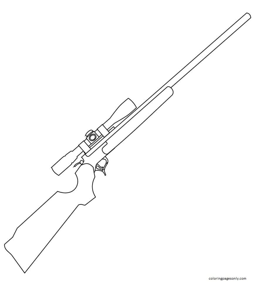 Rifle With Scope Coloring Page