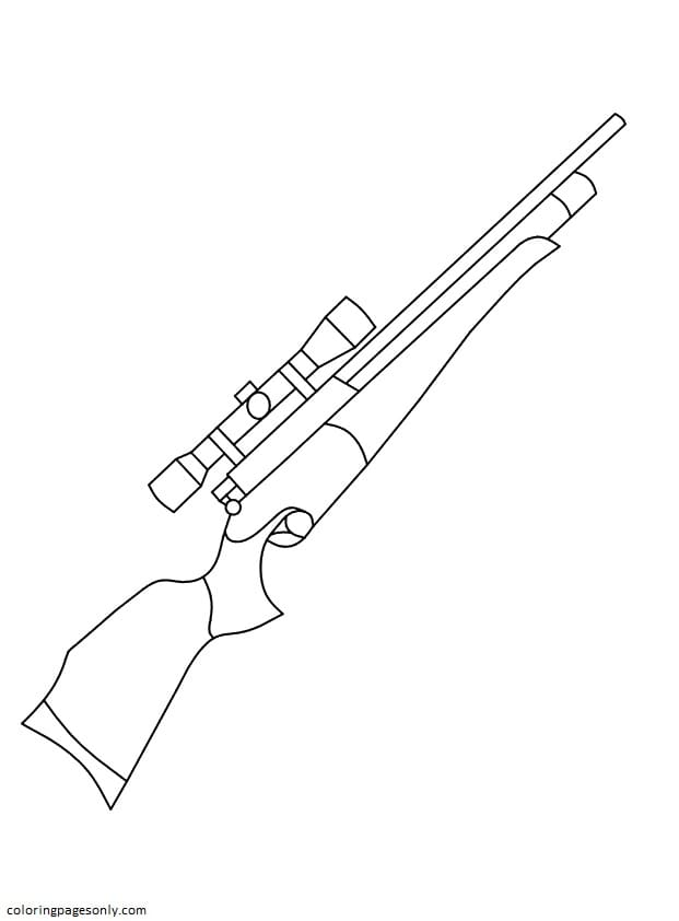 Rifle Coloring Page
