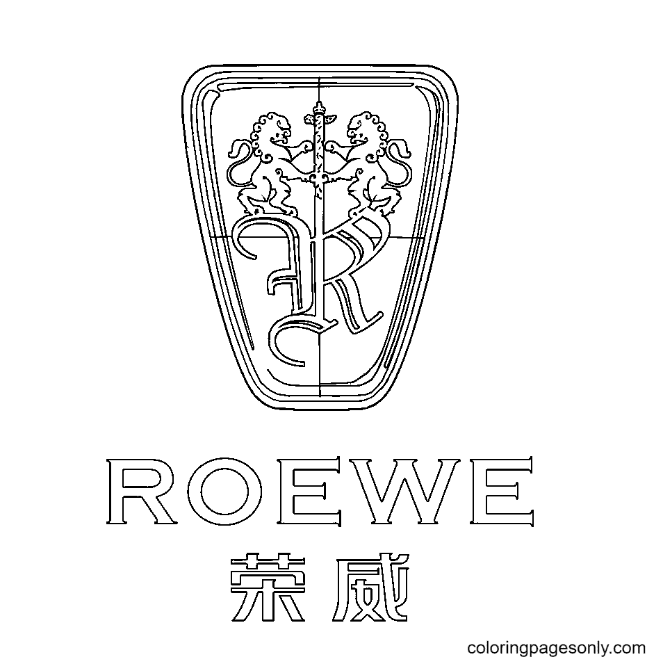 Roewe Logo Coloring Page