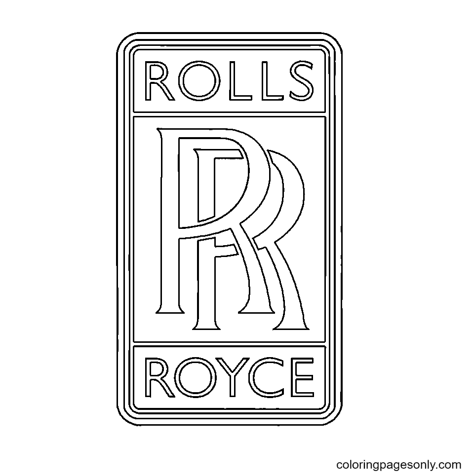 Rolls Royce Logo Coloring Page