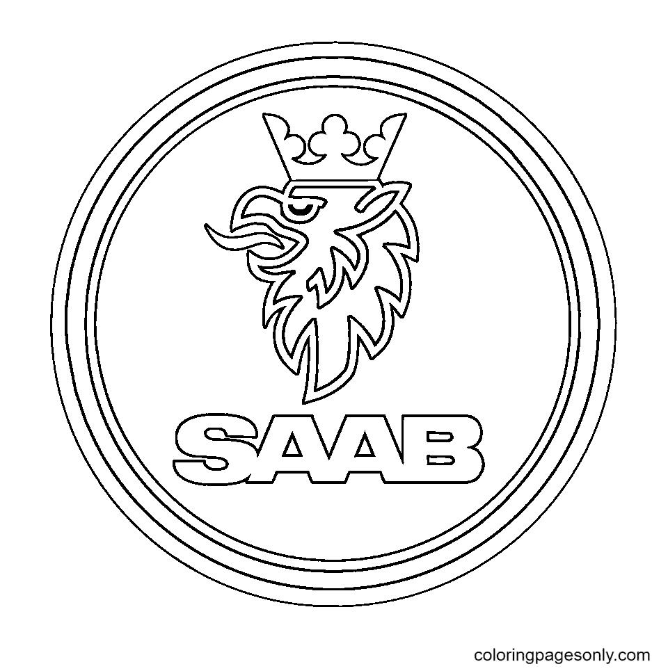 Saab Logo Coloring Page