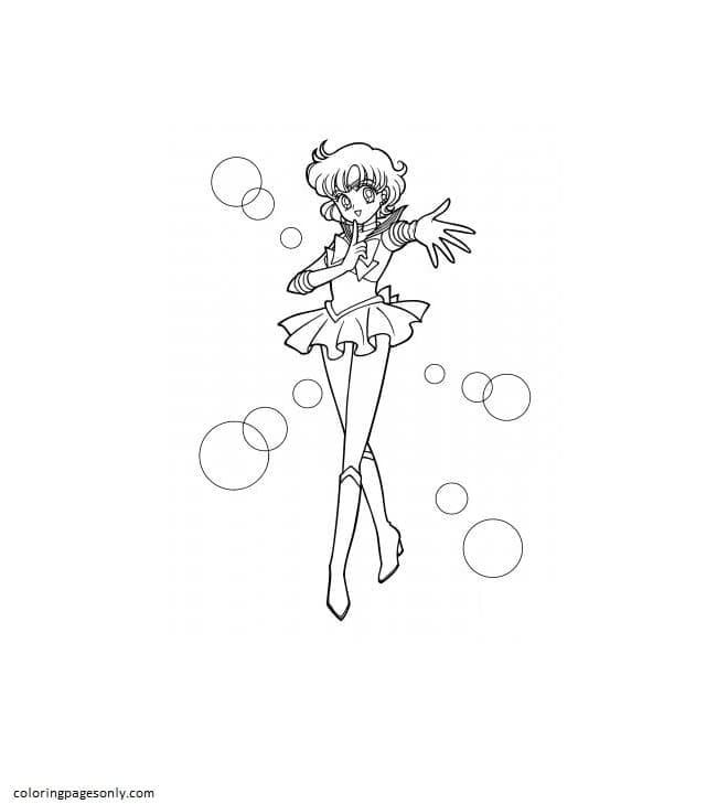 Sailor Mercury Coloring Page