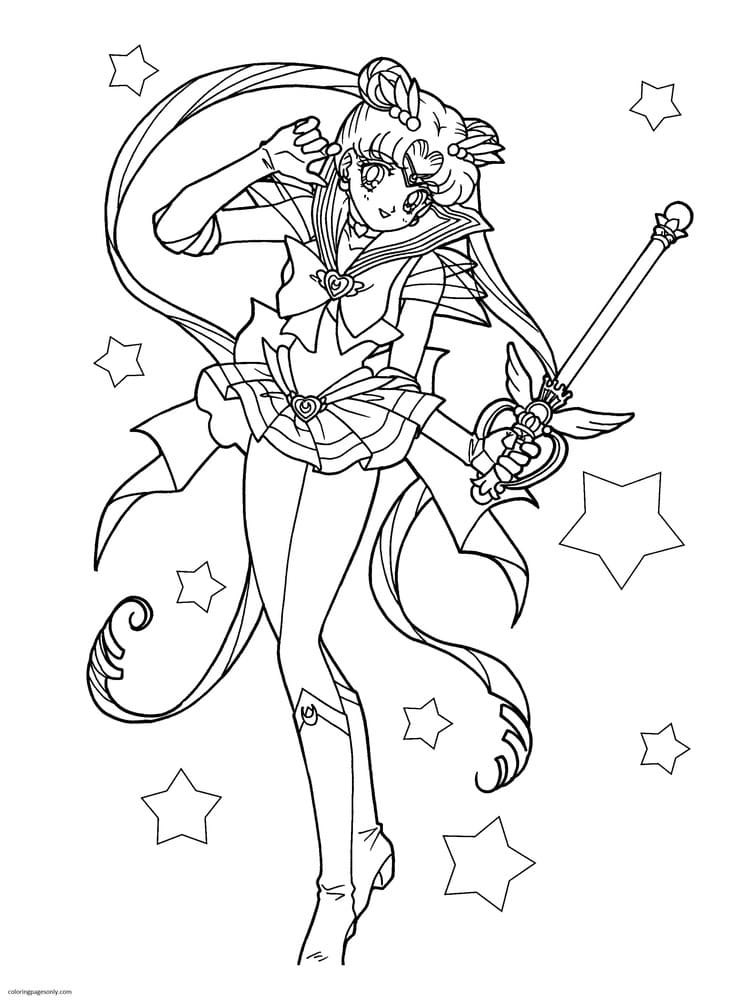 Sailor Moon 0 Coloring Page