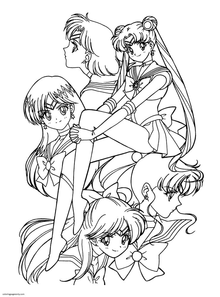 Sailor Moon 10 Coloring Page