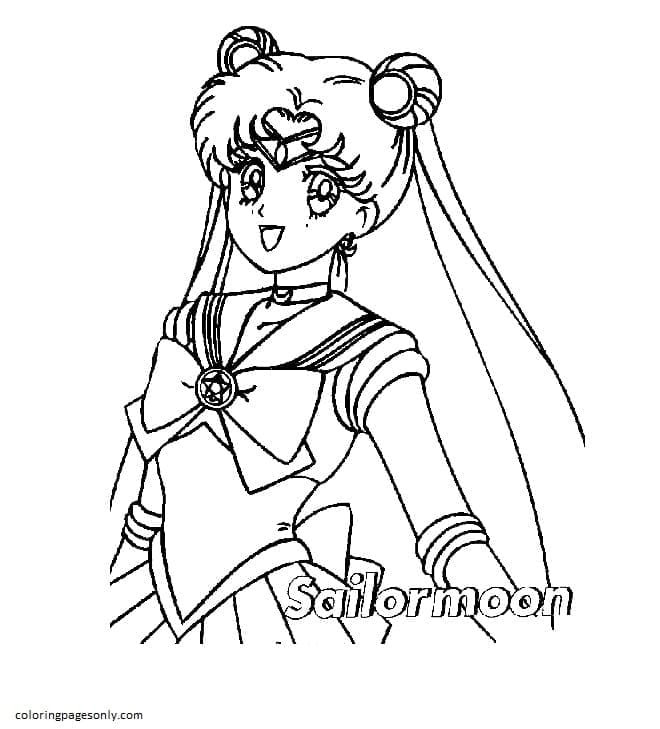Sailor Moon 11 Coloring Page