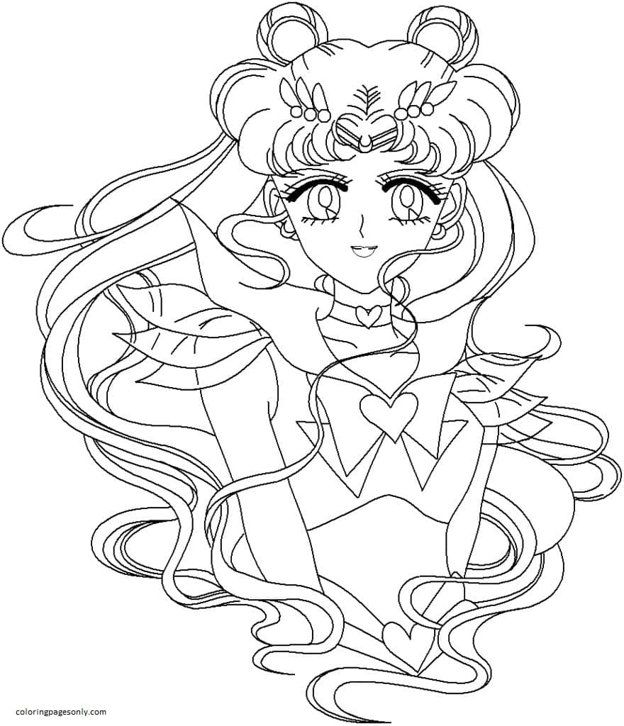 Sailor Moon 12 Coloring Page