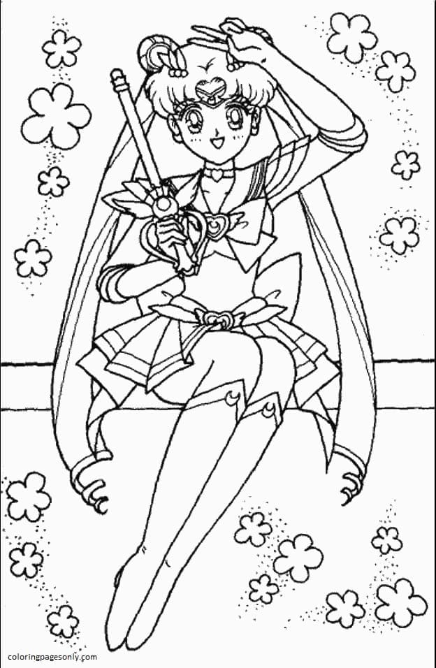 Sailor Moon 13 Coloring Page