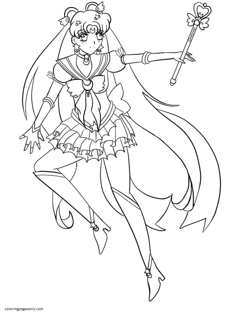 Sailor Moon 15 Coloring Page