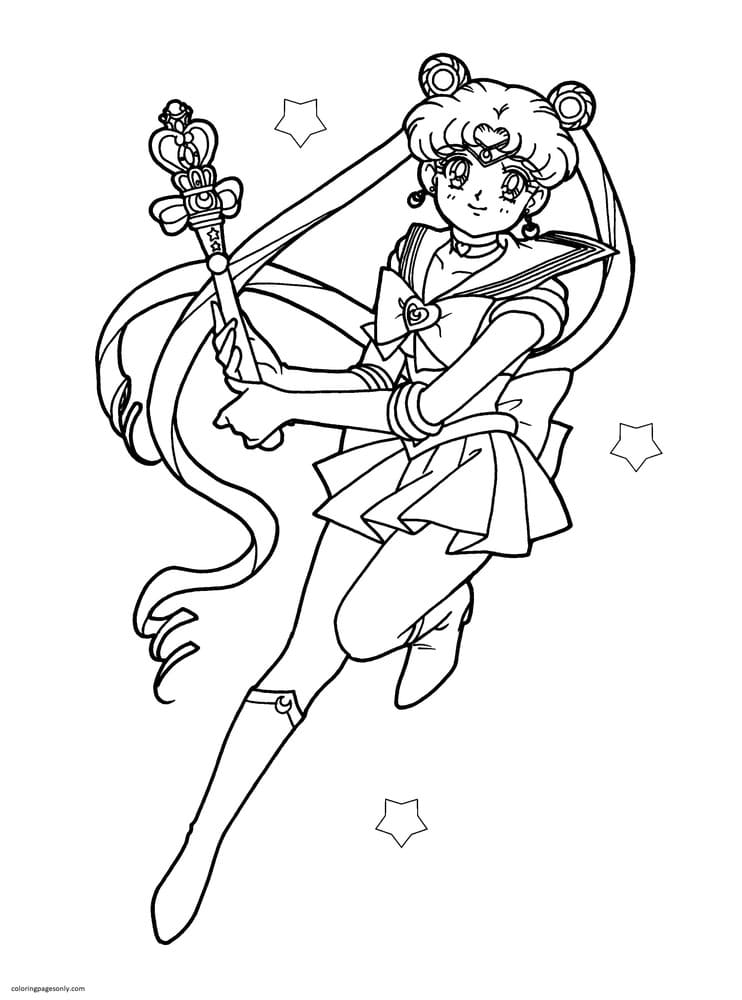 Sailor Moon 2 Coloring Page