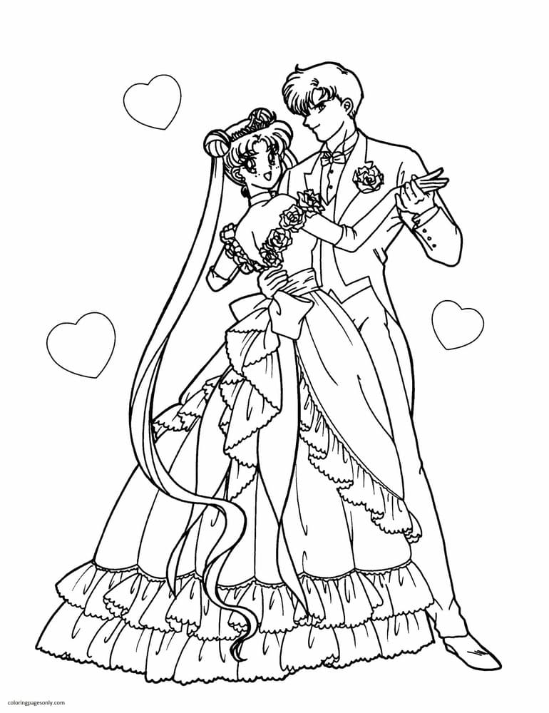 Sailor Moon 21 Coloring Page