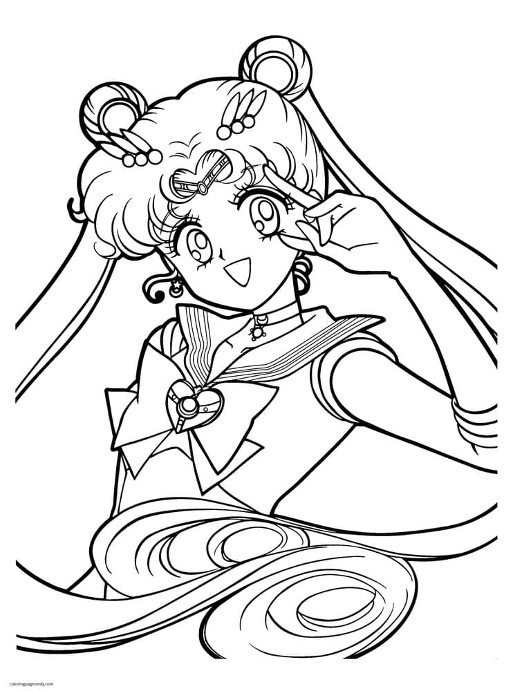 Sailor Moon 22 Coloring Page