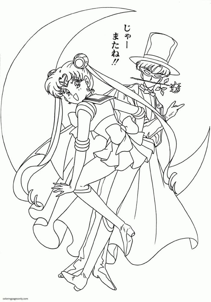 Sailor Moon 3 Coloring Page