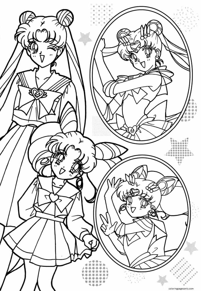 Sailor Moon 4 Coloring Page