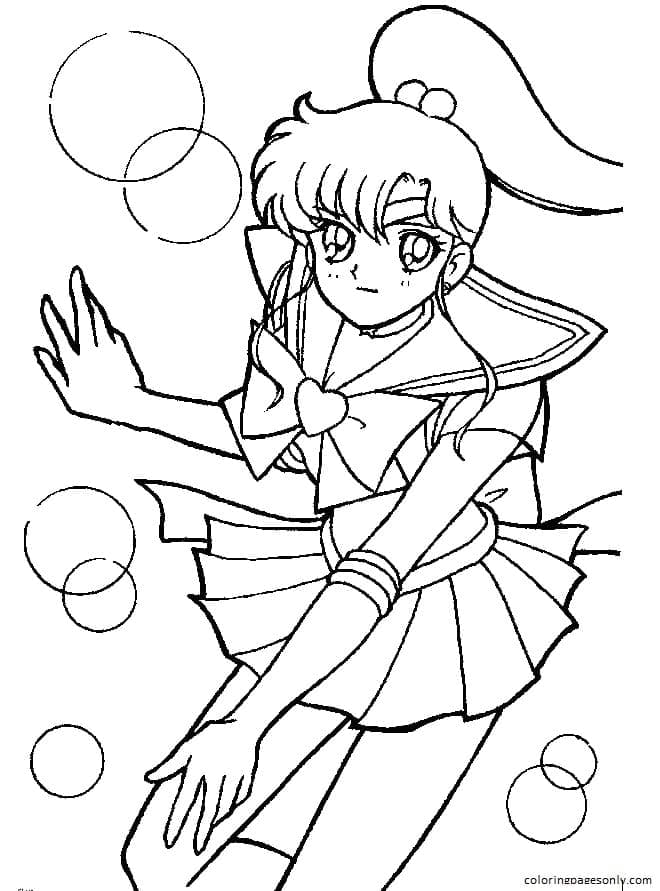 Sailor Moon 6 Coloring Page