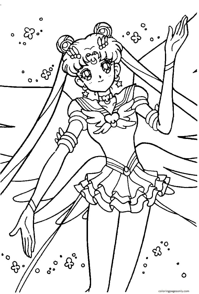 Sailor Moon 9 Coloring Page
