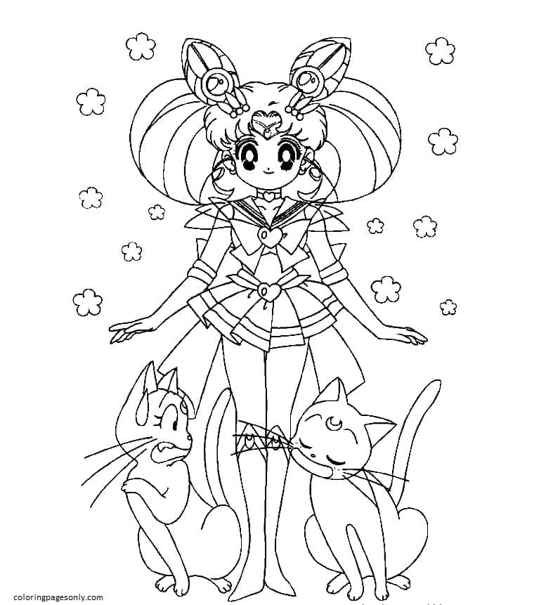 Sailor Moon Characters Coloring Page
