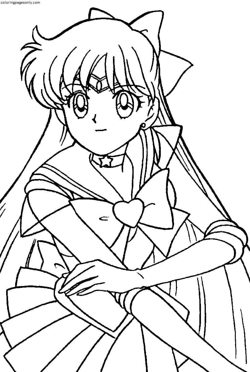 Sailor Moon Venus Coloring Page