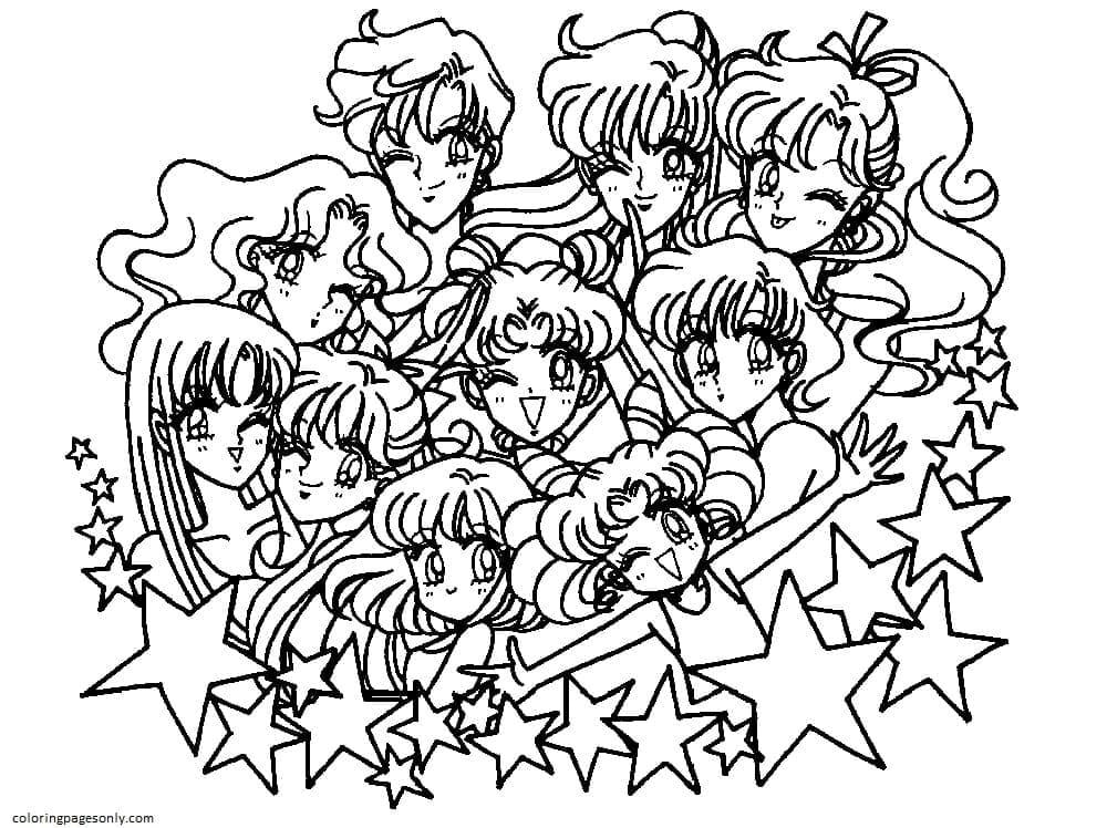 Sailor moon stars Coloring Page