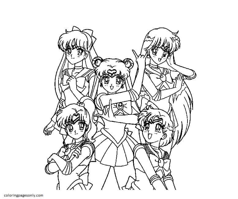 SailorMoon 10 Coloring Page