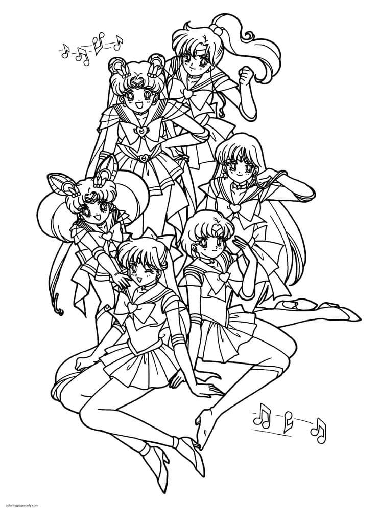 SailorMoon 5 Coloring Page