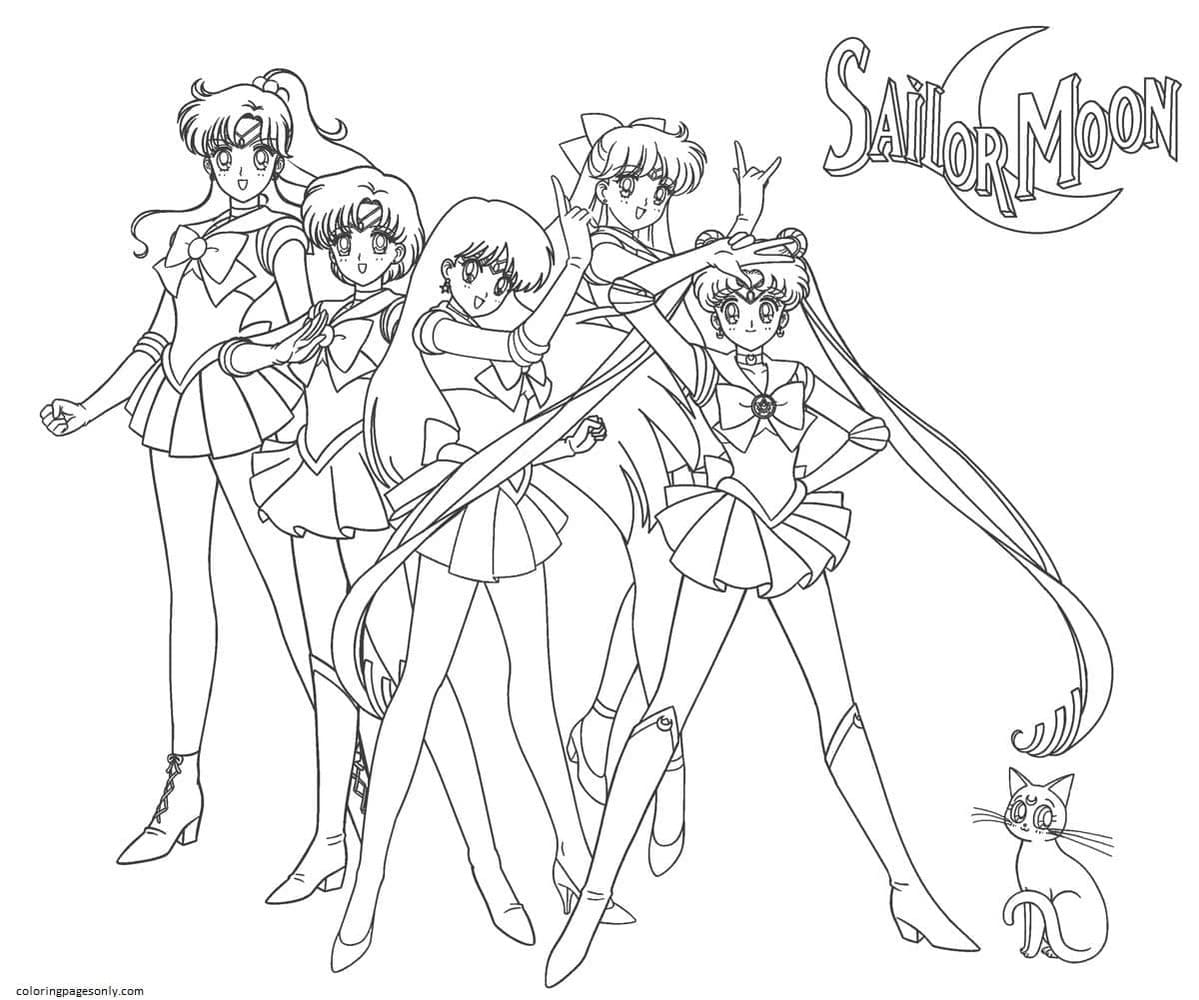SailorMoon0 Coloring Page