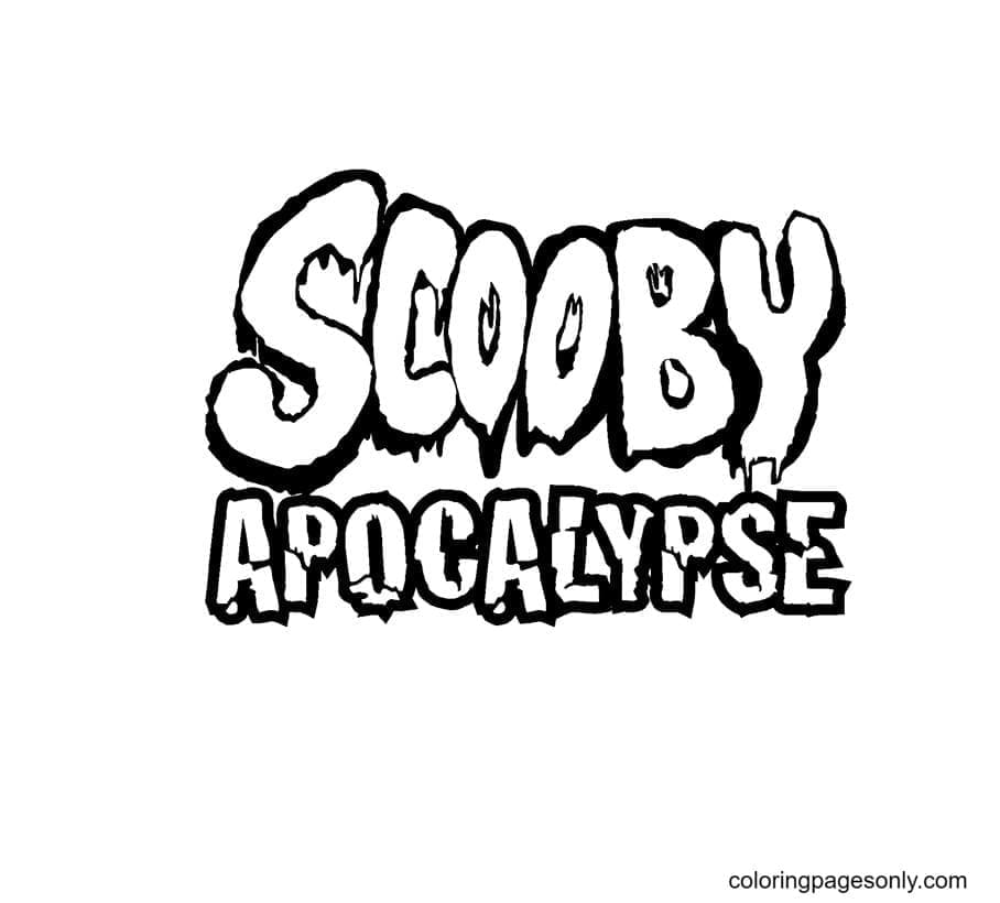 Scooby Apocalypse Coloring Page