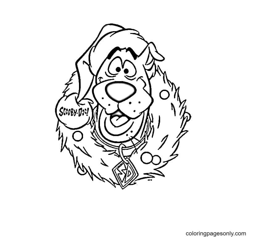 Scooby Doo Christmas Coloring Page