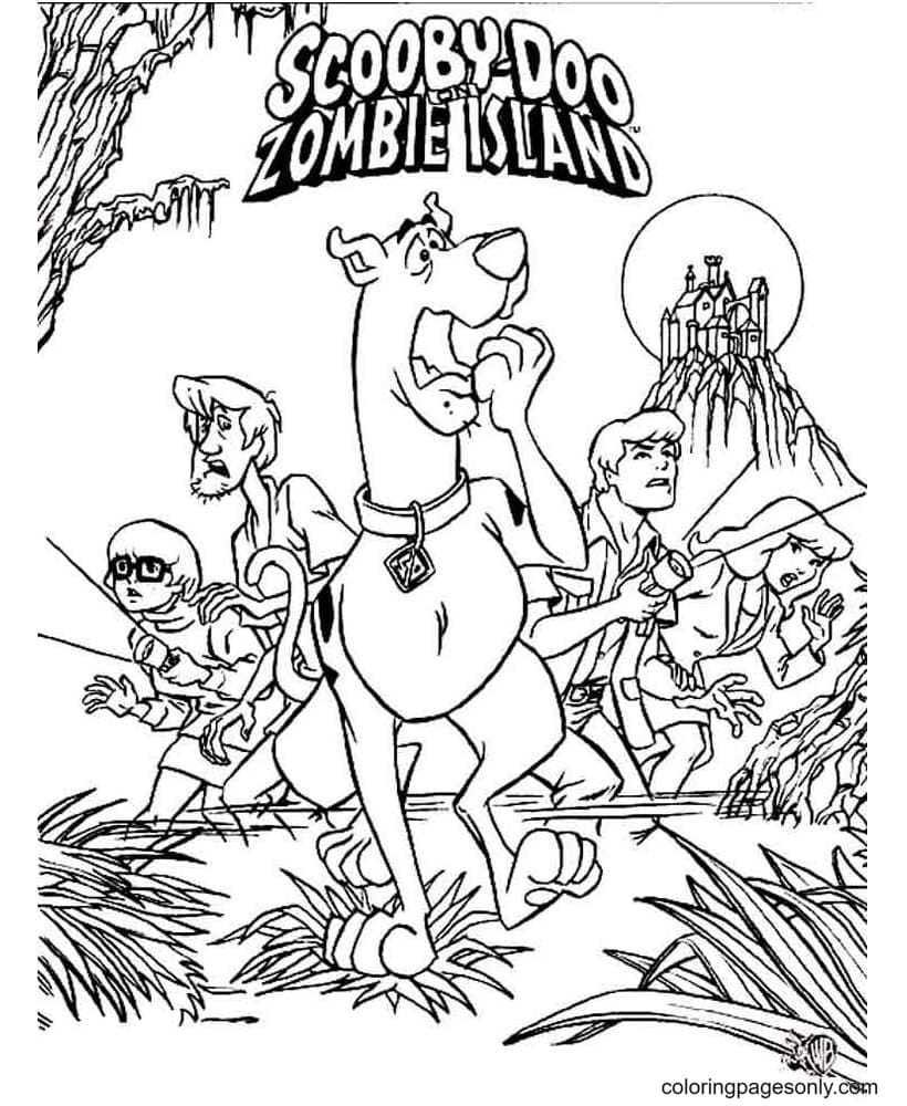 Scooby Doo Zombie Island Coloring Page