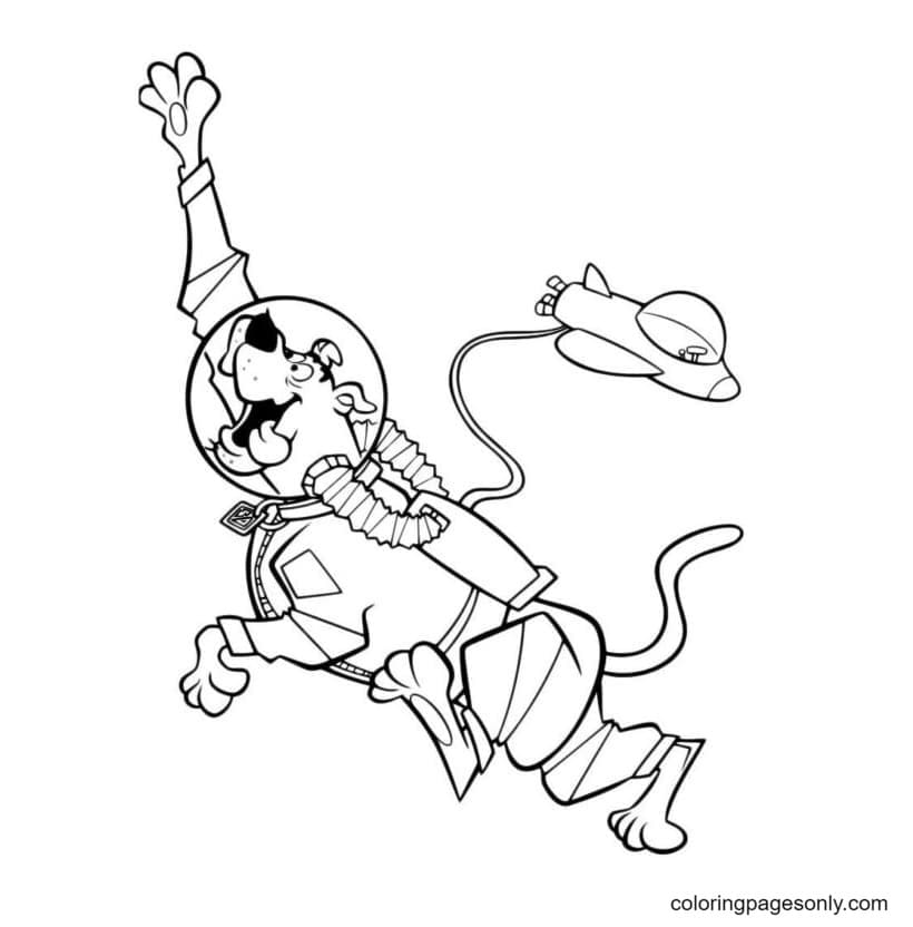 Scooby Doo in Space Coloring Page