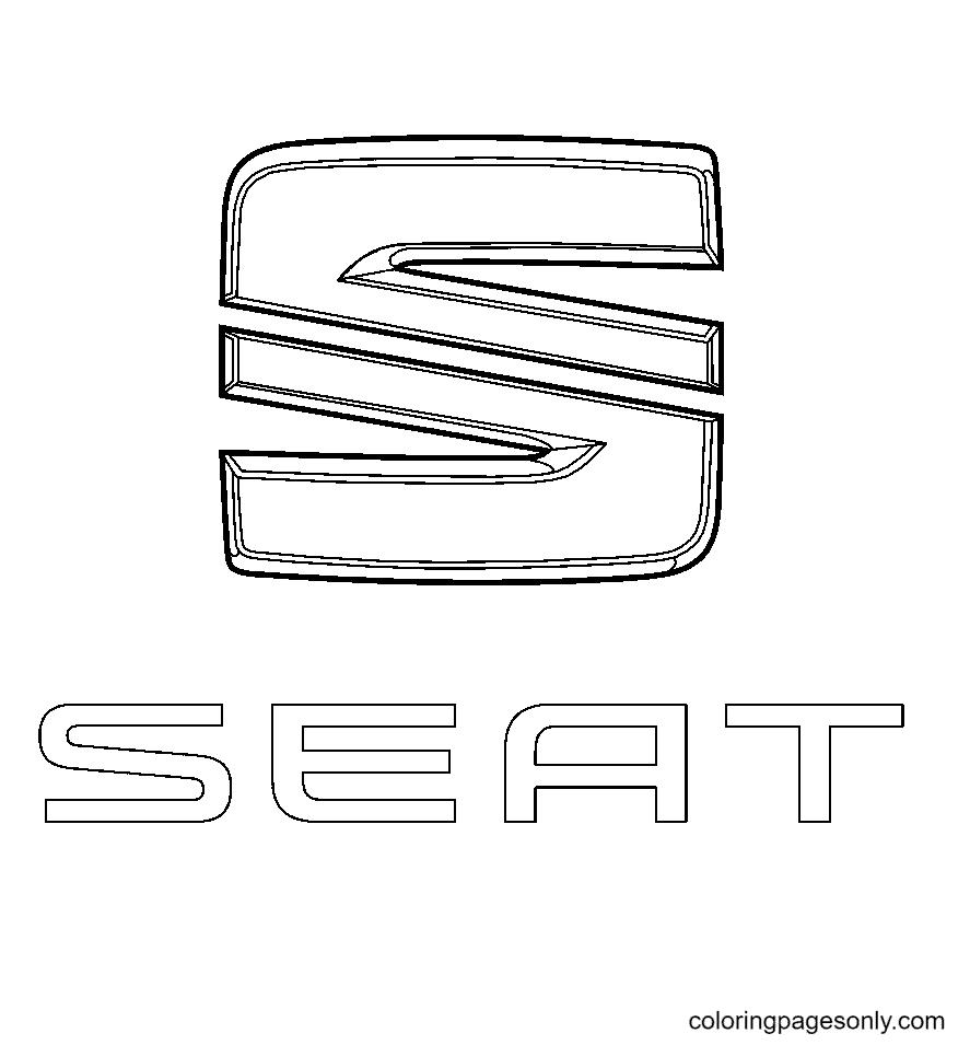 Seat Logo Coloring Page