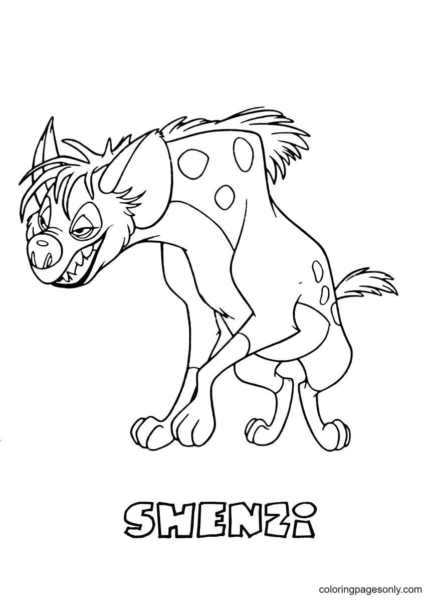 Shenzi From The Lion King Coloring Page